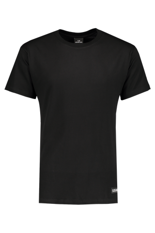Front Image of LES (ART)ISTS Short Sleeve Academy T-Shirt In Black