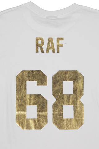 Back Detail Image LES (ART)ISTS Short Sleeve Football Raf 68 T-Shirt In White