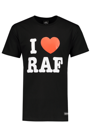 Front Image of LES (ART)ISTS Short Sleeve Iraf T-Shirt In Black