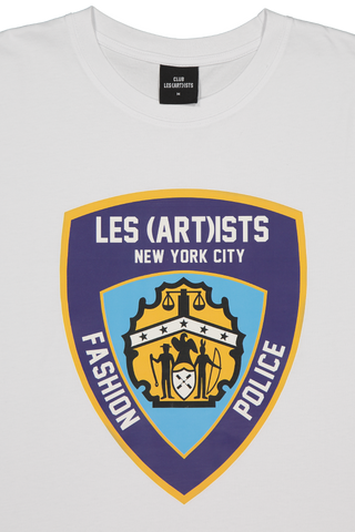 Collar Detail Image of LES (ART)ISTS Short Sleeve Police T-Shirt White