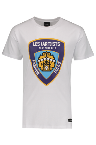 Front Image of LES (ART)ISTS Short Sleeve Police T-Shirt White