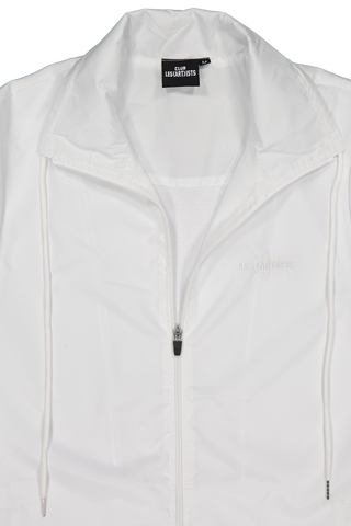 Collar Detail Image of LES (ART)ISTS Zipped Shanghai Jacket In White