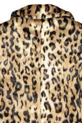 Back collar detail image of Line Gisela Coat Ocelot