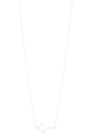 Front view with chain image of Logan Hollowell Big Dipper Diamond Constellation Necklace