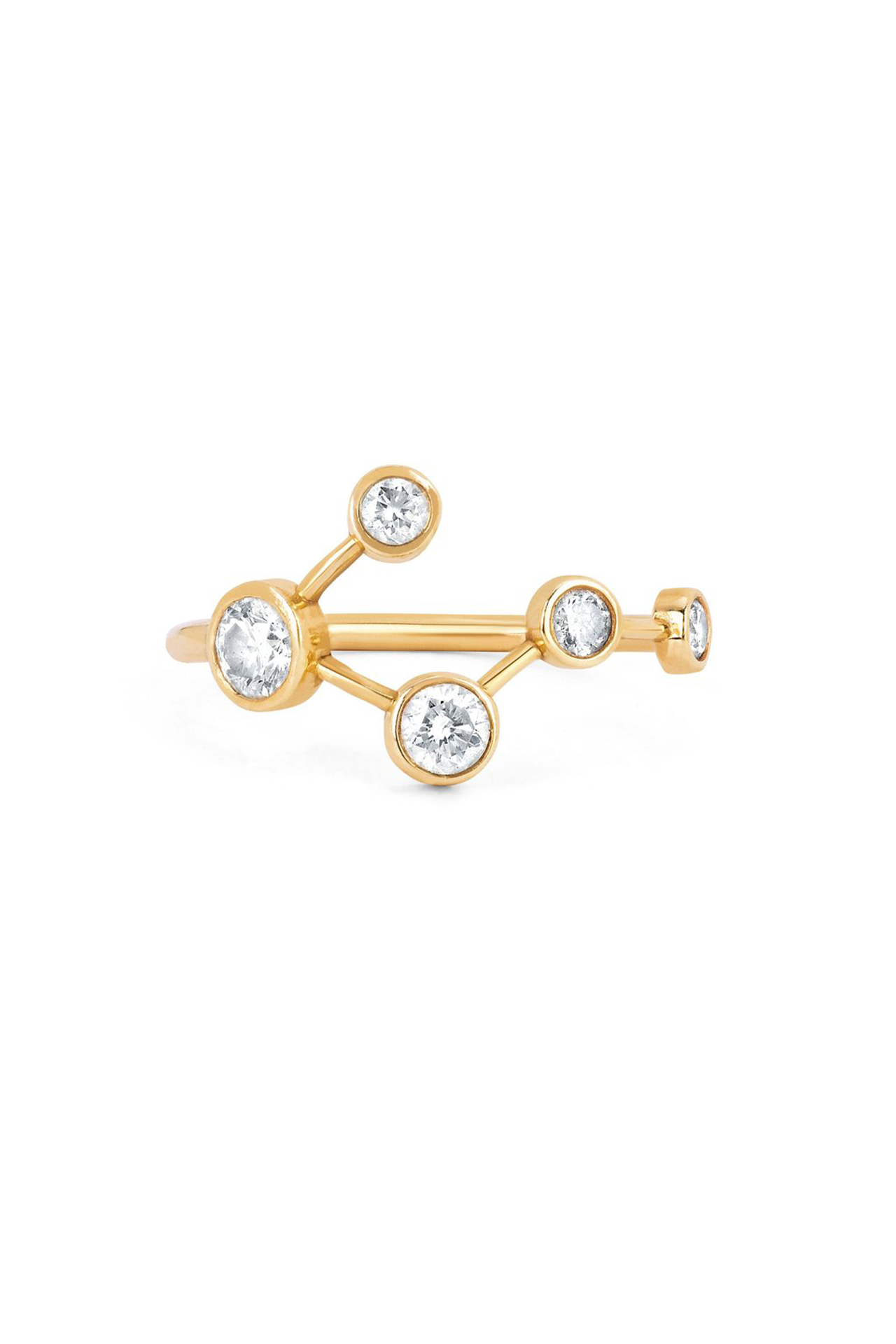 Diamond Big Dipper Constellation Ring