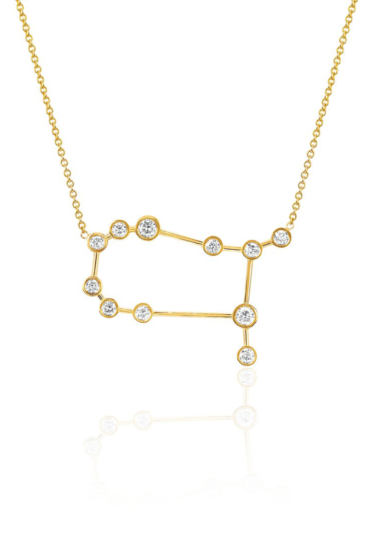 Diamond Gemini Constellation Necklace