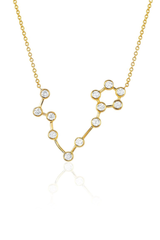 Diamond Pisces Constellation Necklace