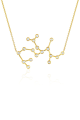 Diamond Sagittarius Constellation Necklace