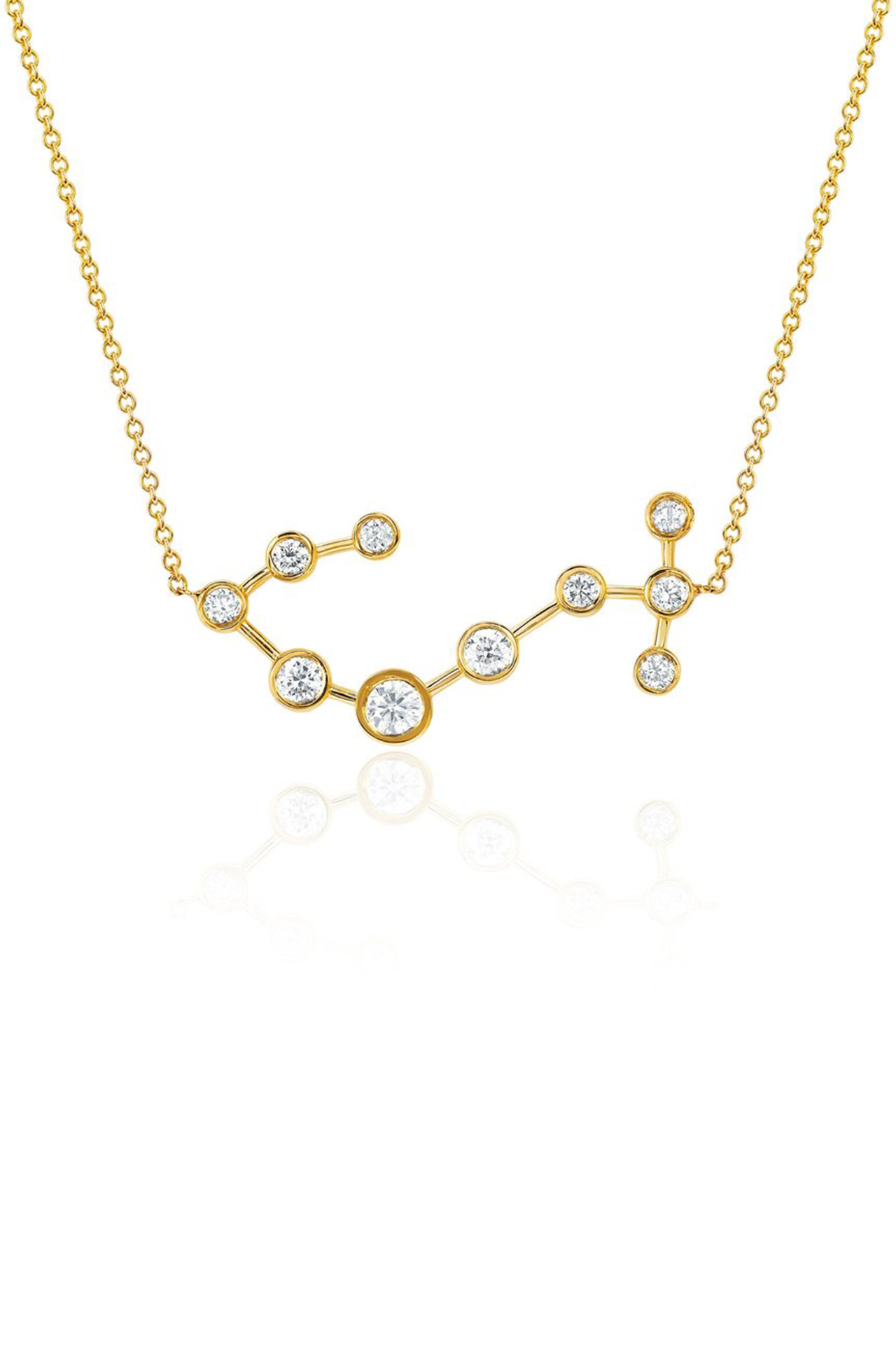 Diamond Scorpio Constellation Necklace