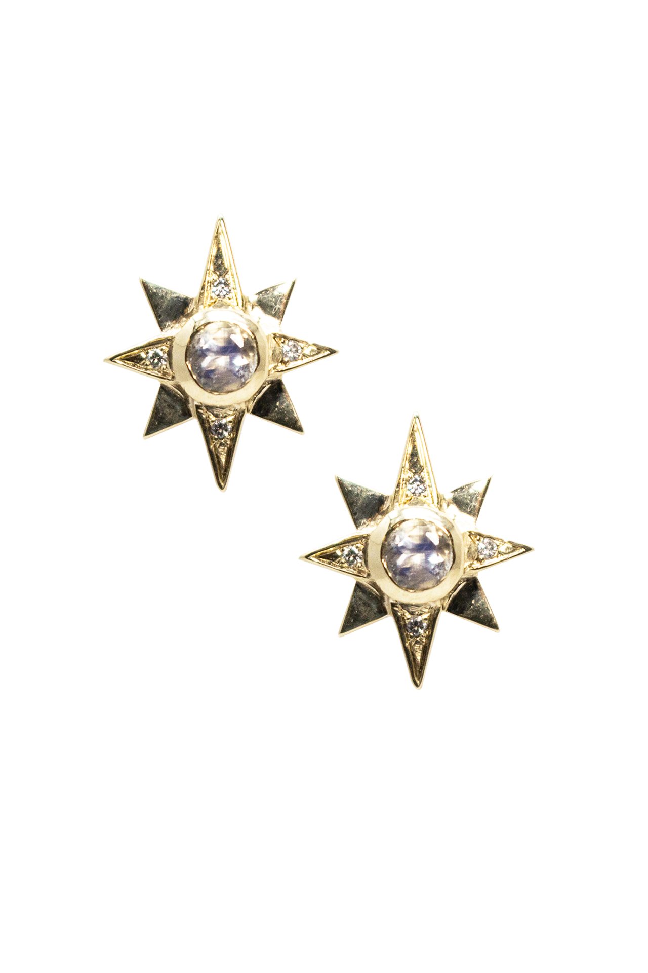 North Star Moonstone Earrings