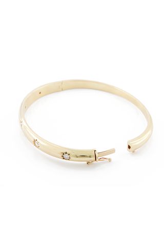 Diamond Star Set Bangle