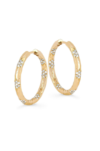 Wilderness Sevenfold Diamond Hoops Large