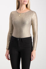 NIGHTFLIGHT BODYSUIT GOLD