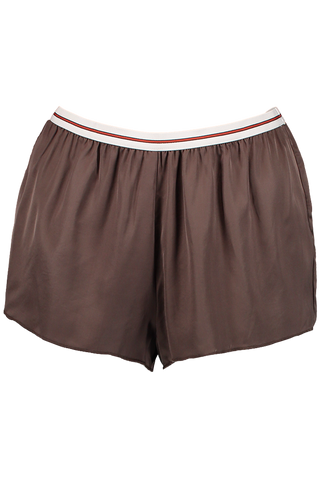 EDIE PAJAMA SHORT DARK BROWN