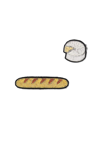 Image of Macon & Lesquoy Baguette and Camembert Pins