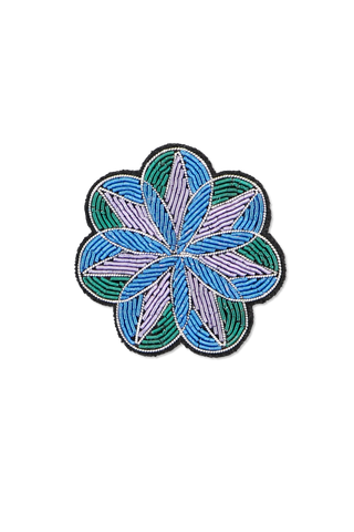 Image of Macon & Lesquoy Stained Glass Peony Pin
