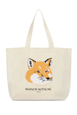 Fox Head Tote Bag Ecru