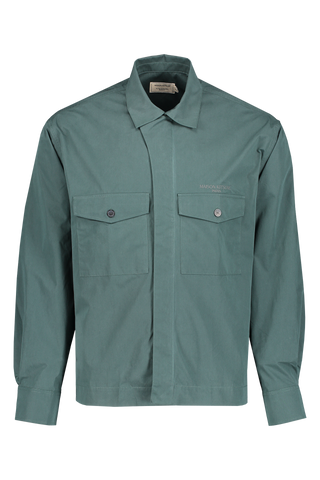 Front image of Maison Kitsuné Men's Hidden Placket Shirt Jacket
