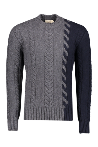 Front image of Maison Kitsuné Pullover Cable-Knit Sweater