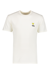 Front view image of Maison Kitsuné Men's Tee-Shirt Smiley Fox Patch