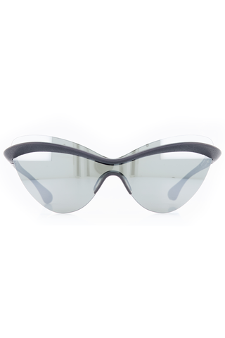 Front image of Maison Margiela Echo Eyewear Pitch Black