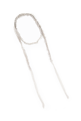 Wrap detail image of Maire Laure Chamorel Women's White Bronze Long Necklace