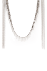 Front hanging image of Maire Laure Chamorel Women's White Bronze Long Necklace