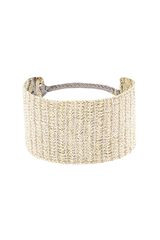 Front image of Marie Laure Chamorel Gold Grey Cuff