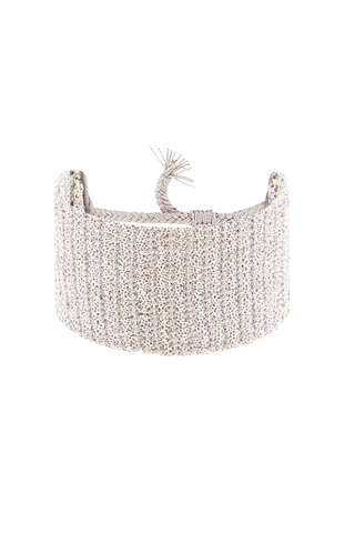 Front image of Marie Laure Chamorel Silver Grey Cuff