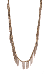 Front image of Maire Laure Chamorel Chocolate Lurex Gold Necklace