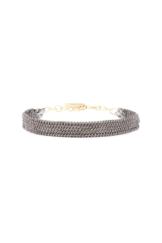 Front image of Marie Laure Chamorel Women's Ruthenium Bracelet