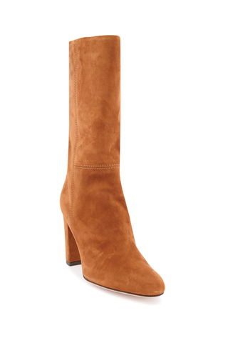 Front angled view image of Marion Parke Delila 85mm Suede Boot Camel