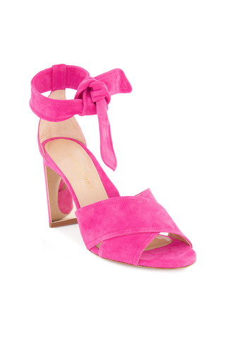 Front angled view image of Leah 85mm Sandal Hot Pink