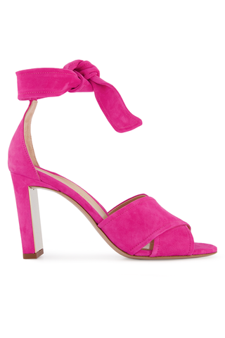 Side view image of Leah 85mm Sandal Hot Pink
