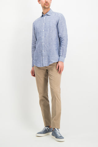 Chambray Button Front Navy
