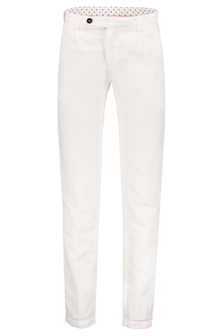 Front Image Of Massimo Alba Cotton Linen Pant Single Pleat Latte