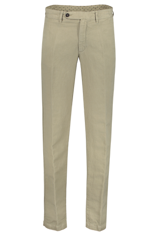 Front view image of Massimo Alba Cotton Linen Trouser Olive