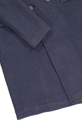 Hemline and cuff detail image of Massimo Alba Men's Frisco Double Breasted Overcoat