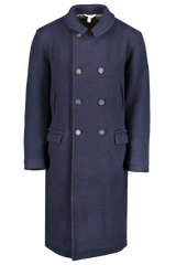 Front view image of Massimo Alba Men's Frisco Double Breasted Overcoat