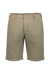 Front Image Of Massimo Alba Linen Cotton Short Olive