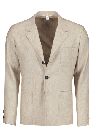 Front view image of Massimo Alba Linen Jacket Tan
