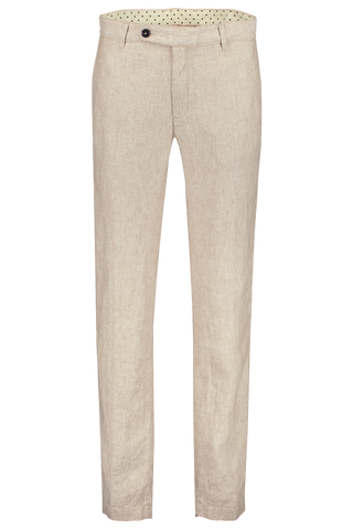 Front view image of Massimo Alba Linen Trouser Tan