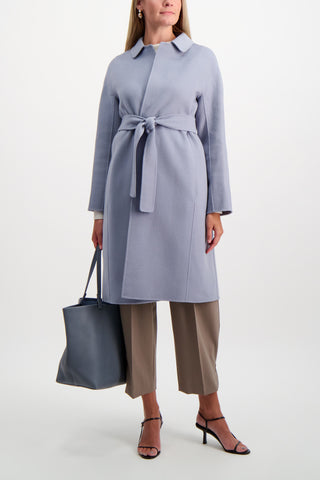 Full Body Image Of Model Wearing Max Mara Doraci Coat