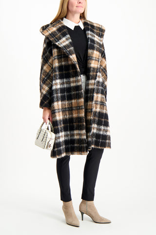 Full Body Image Of Model Wearing Max Mara Ebro Coat