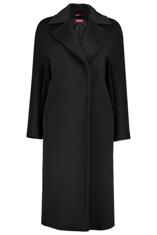 Front image of Max Mara Fata Coat Black