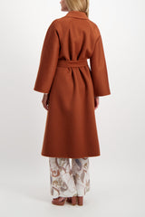 Back Crop Image Of Model Wearing Max Mara Labbro Coat