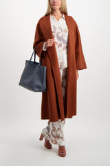 Full Body Image Of Model Wearing Max Mara Labbro Coat