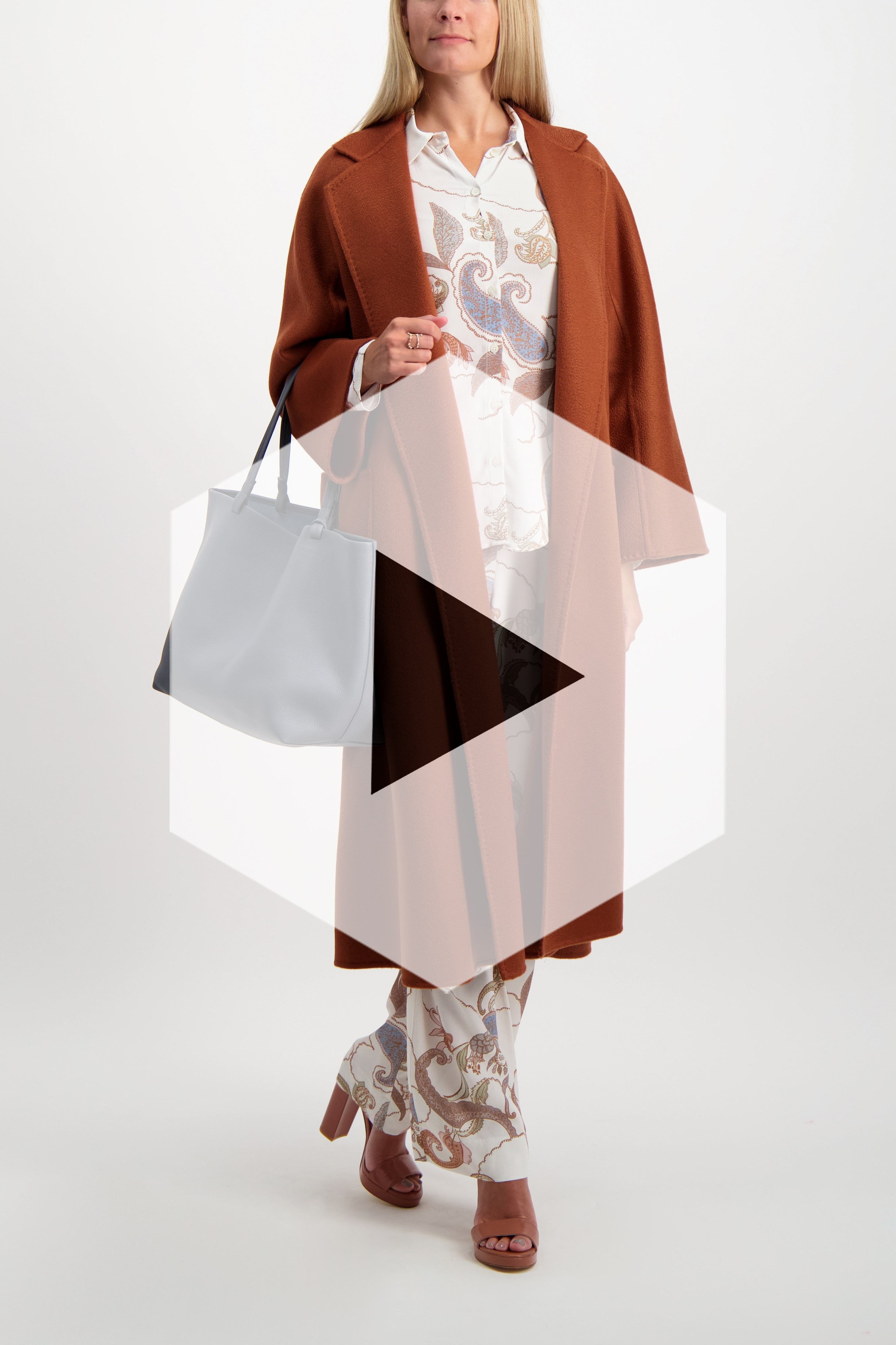 Image Of Model Wearing Max Mara Labbro Coat