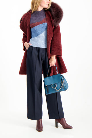 Full Body Image Of Model Wearing Max Mara Osimo Coat