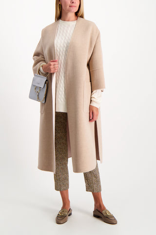 Full Body Image Of Model Wearing Max Mara Pegli Coat